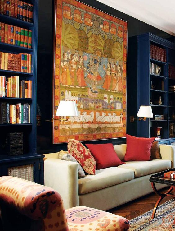 Indian Design Style into Your Space- colourful paintings
